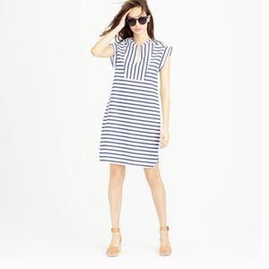 Jcrew dress - Blue and white striped XL